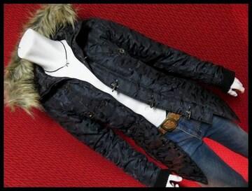 ★in the attic★迷彩カモフラJQファイヤーマンN-3Bコート/BLK/M