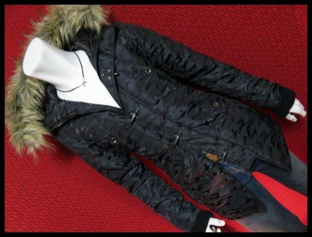 ★in the attic★迷彩カモフラJQファイヤーマンN-3Bコート/BLK/M < 男性ファッションの