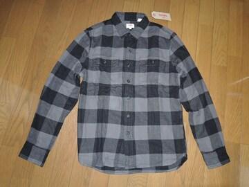新品リーバイスLevi'sブロックチェックシャツS灰黒長袖
