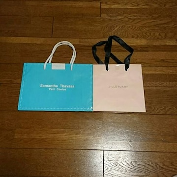 サマンサタバサ&ジルスチュアートショップ袋セット/ショッパー