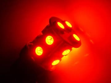 激照!T20型SMD13連LEDダブルウェッジバルブ レッド