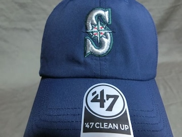 【47BRAND】MLBメジャー シアトル マリナーズ ロゴ刺繍CAP