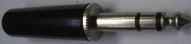 6.5mm径ステレオプラグ10個1口のセット未使用品!! < 家電/AVの