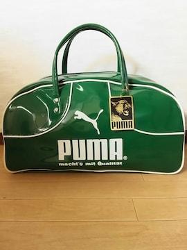80s PUMA エナメル ボストン バッグ 未使用