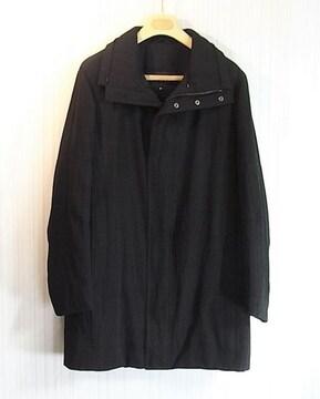 size46☆美品☆グッチ 内綿入りコート ブラック オーバーサイズ