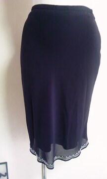 BlancNouveau黒ビーズスカート