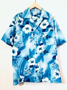 SUNMARI■アロハシャツ■70'sVINTAGE■ハワイ製■ハイビスカス