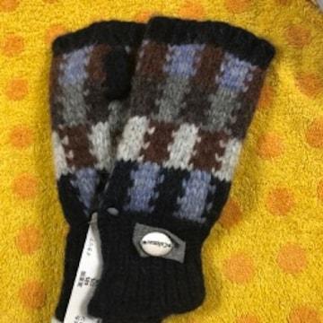 Calimar(カリマール)ニット手袋指出しタイプネイビー柄