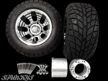 ジャイロ用ブラックホイールバギータイヤ&スペーサー100mm