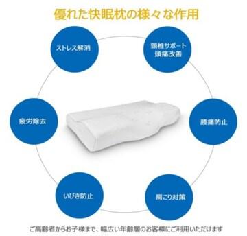 快眠枕 低反発まくら 肩こり対策 いびき防止