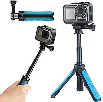 YiLiWit GoPro三脚スタンド 自撮り棒 GoProハンドル 伸縮拡張 一