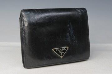 PRADA プラダ 折財布 ブラック