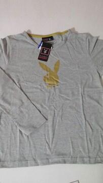 【新品・タグ付】PLAY BOY 長袖Tシャツ・LL サイズ