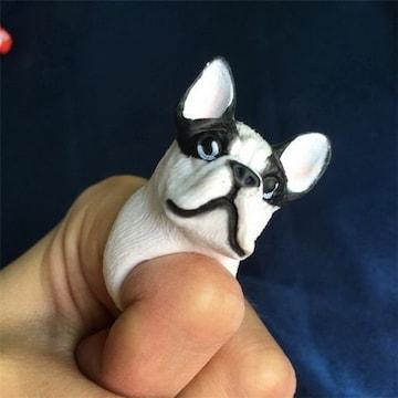 新品アンティーク調ボストンテリア犬さんリング指輪11号