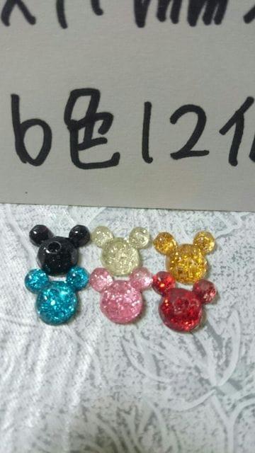 ミッキー好キラキララメネイルサイズマウス10×11�o程6色12個 < 香水/コスメ/ネイルの
