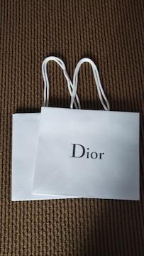 新品 Dior 紙袋2枚セット 正規品