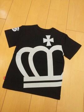 新品斜め王冠Tシャツ黒120ベビードールBABYDOLLベビド