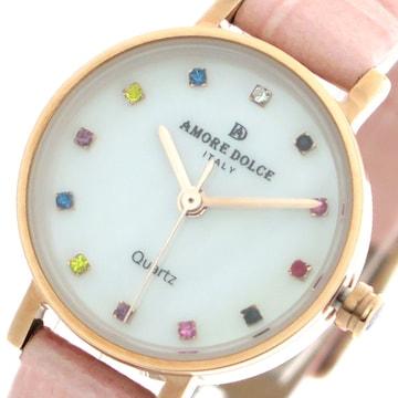 アモーレドルチェ レディース腕時計 AD18301-PGWH-PKピン