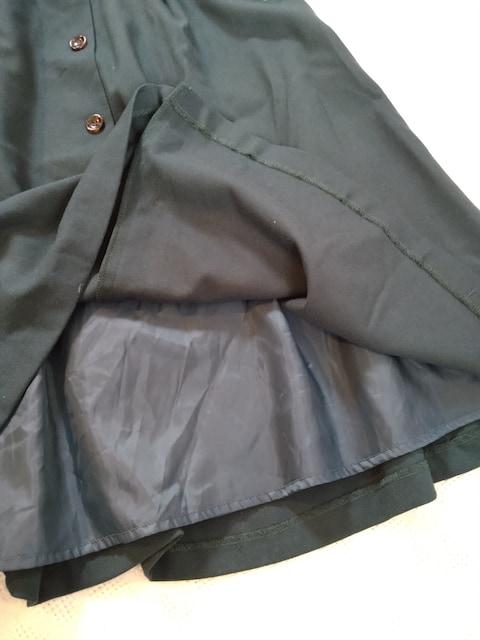 any sis/フロントフェイクボタンのミディフレアスカート/新品
