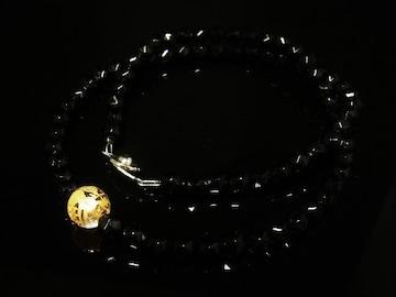金彫皇帝龍本水晶 スターカットブラックスピネルネックレス 高級天然石数珠