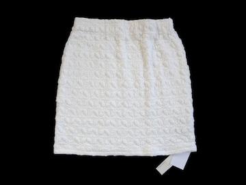 新品 定価6930円 ラグナムーン  白 タイト ミニ スカート