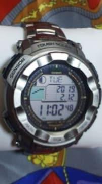 定59400円カシオプロトレックPRW-2500Tチタン電波ソーラー腕時計