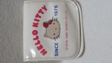 送料無料/ハローキティ1986年発売本革2つ折り財布