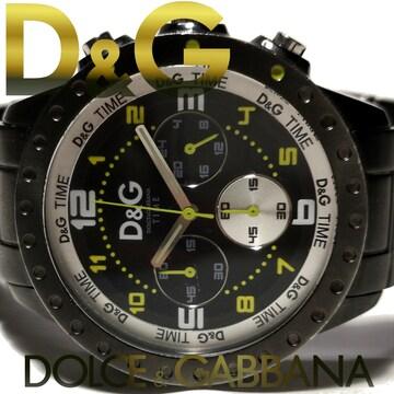 良品 1スタ★ドルガバ/D&G【クロノグラフ】大型 メンズ腕時計