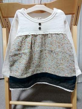 ◆即決★半額以下★ラス1★porochonポロション★長袖Tシャツ★80�p