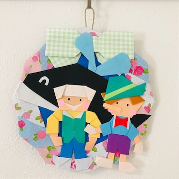折り紙リース/ピノキオ/ハンドメイド