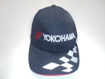 非売販促ノベルティーYOKOHAMA横浜ゴム帽子キャップ綿100%黒新品