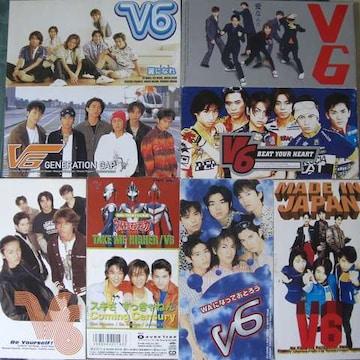 CD,シングル/V6(ヴイ,シックス) 11枚組中古品!!