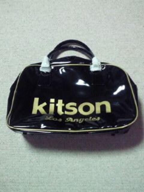 Kitson キットソン ボストンバッグ スポーツバッグ 旅行 BAG エナメル ブラック 金  < ブランドの