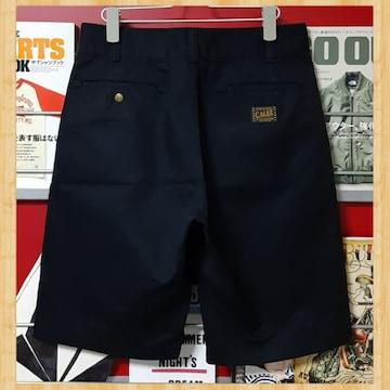 定価16500円 CALEE キャリー T/C チノ ショートパンツ S ブラック