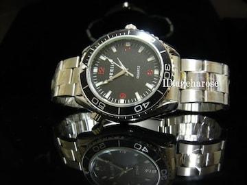 新品★腕時計 シルバー ブラック /オメガ好きに