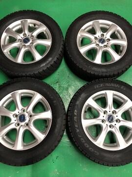 0082801国産スタッドレスタイヤ美品アルミホイ-ルエスティマオデッセイ215/60R16送料無料