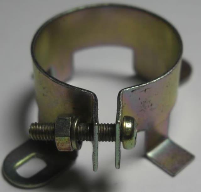 ブロックコンデンサー止め金具/25mm未使用品10個1口/8.01 < 家電/AVの