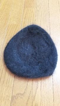 ブラックハンチング帽ベレー帽