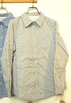 fabrique en planete terre中綿入りギンガムチェックシャツ2