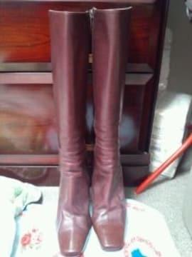 ダイアナ紫パープルロングブーツ9〜10センチヒール高級S22.5