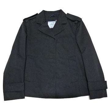 新品プラダ コットン ジャケット 黒 #40 PRADA