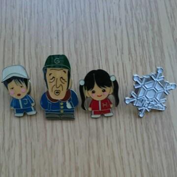 「北の国から」五郎、純、螢、雪子ピンバッジ