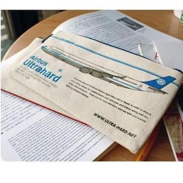 台湾Bon Voyageキャンバス帆布ペンケース飛行機Airbus