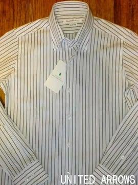 □ユナイテッドアローズ ストライプ ドレスシャツ/メンズ・S☆新品