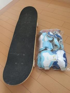 [リユース品]ジュニアスケートボード&プロテクターセット