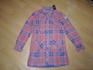 新品TMTロングチェックシャツS赤ティーエムティー定価29000円