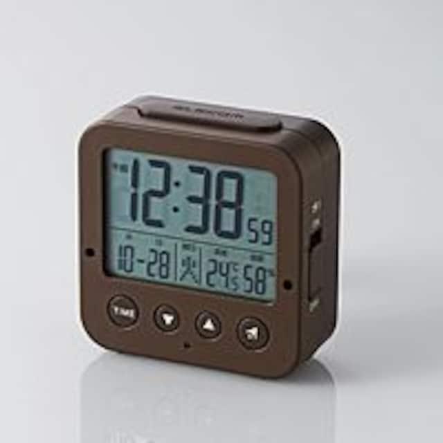 電波デジタル目覚まし時計 CLK-DD001BR  < インテリア/ライフの