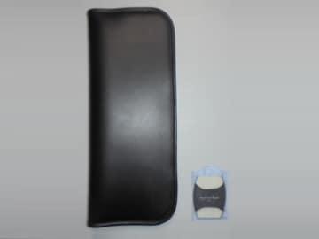ネクタイケース ブラックFashion Brushファッションブラシ黒×白
