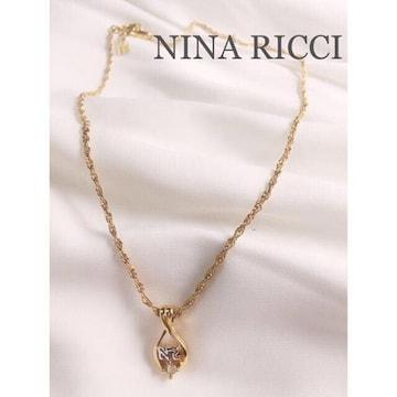 NINA RICCIニナリッチ ロゴビジューネックレス Gold×silver