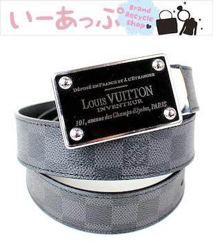 ルイヴィトン ダミエグラフィット ベルト ブラック サンチュール 美品 k787